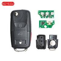 Keyecu Gấp Từ Xa Key 3 + 1 Button 315 MHz ID48 fo VW Jetta GTI 1K0 959 753 P