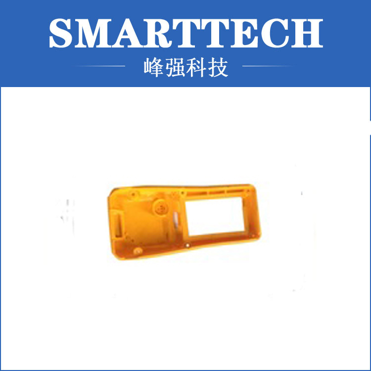 Yellow color cell phone shell plastic mould usa design high tech black plastic shell mould