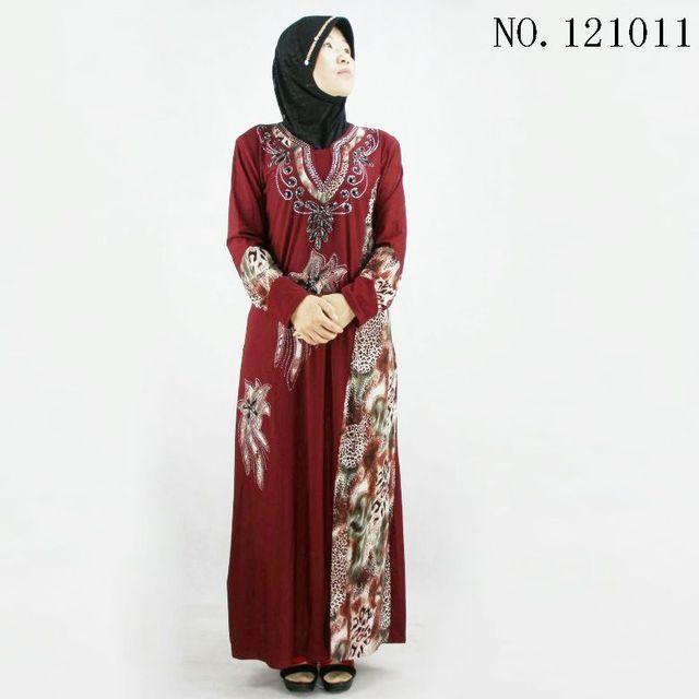 Традиционные Абая Мусульманский платье Хлопка Турецкие женской одежды jilbabs и abayas Исламская длинным рукавом платья Леди 101005