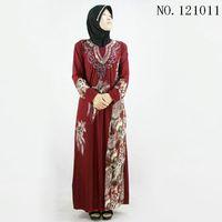 שמלת כותנה מסורתי מוסלמית העבאיה טורקית שמלות ליידי jilbabs וabayas האסלאמי שרוול ארוך בגדי נשים 101005