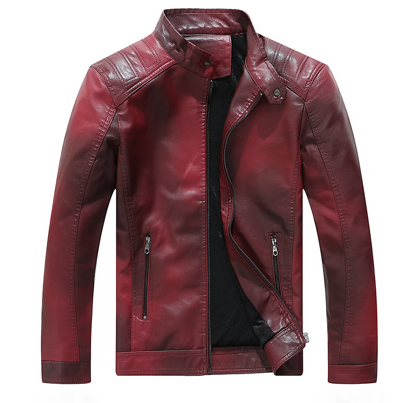 Men Casual Tops Outwear Male Motorcycle Biker Jackets Men's Leather Jackets Coats 2019 New Spring Autumn PU Leather Jacket