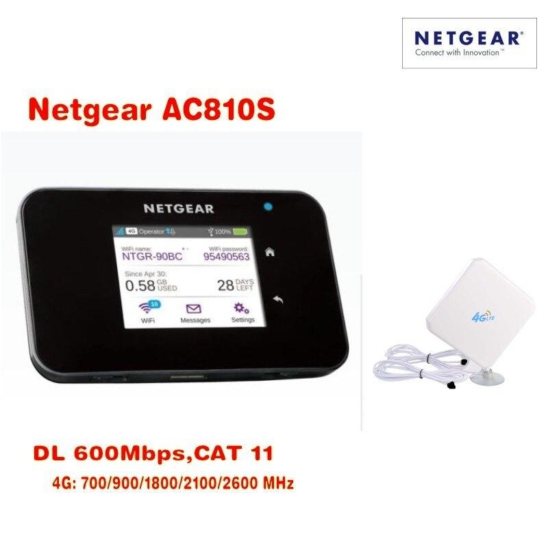 Unlocked 2.4touchscreen Netgear Aircard AC810S(plus antenna) Cat11 600Mbps 4GX Advanced III 4G LTE MiFi Mobile Hotspot netgear verizon jetpack 4g lte mobile hotspot ac791l plus antenna