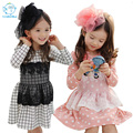 Children Dress Girls New 2016 Baby Girls Dresses Kids Cotton Clothes Children Dot Dress With Lace Korean Style Clothes For Girls