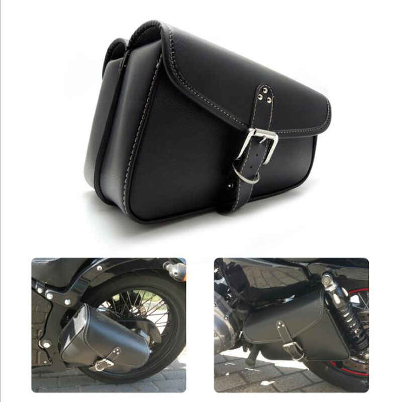 1PCS Motorcycle Triangle Saddle Bag Motorcycle Side Riding Travelling Bag Waterproof Rider Bag Side Hanging Box For Harley