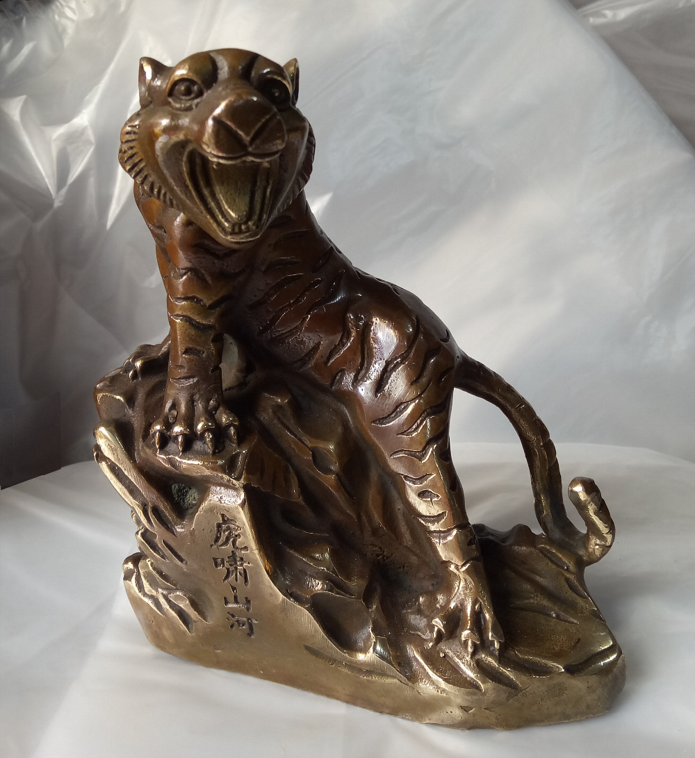 China  Folk sculpture collection tiger down the mountain sculpture collection craftsChina  Folk sculpture collection tiger down the mountain sculpture collection crafts