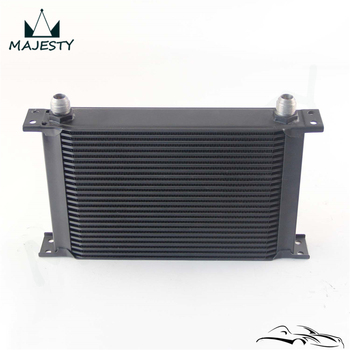 25 Row Universal Alloy AN10 Oil Cooler Engine Transmission 10-AN Oil Cooler Cooling System
