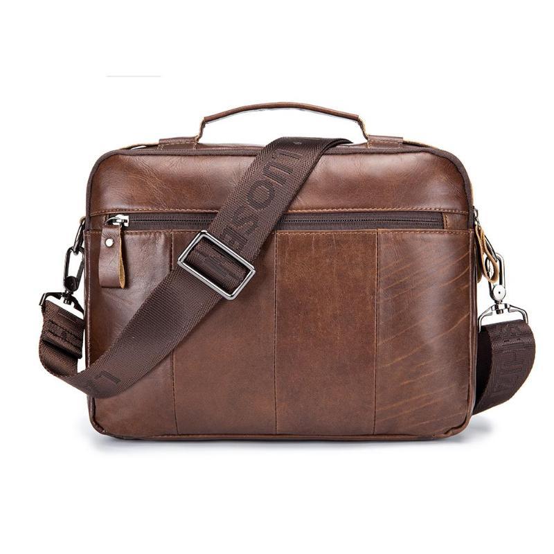 HTB1A gOPNjaK1RjSZFAq6zdLFXah Men Business Briefcase Vintage Genuine Leather Laptop Messenger Bag Cowhide Big Capacity Tote Office Handbag Men Briefcase