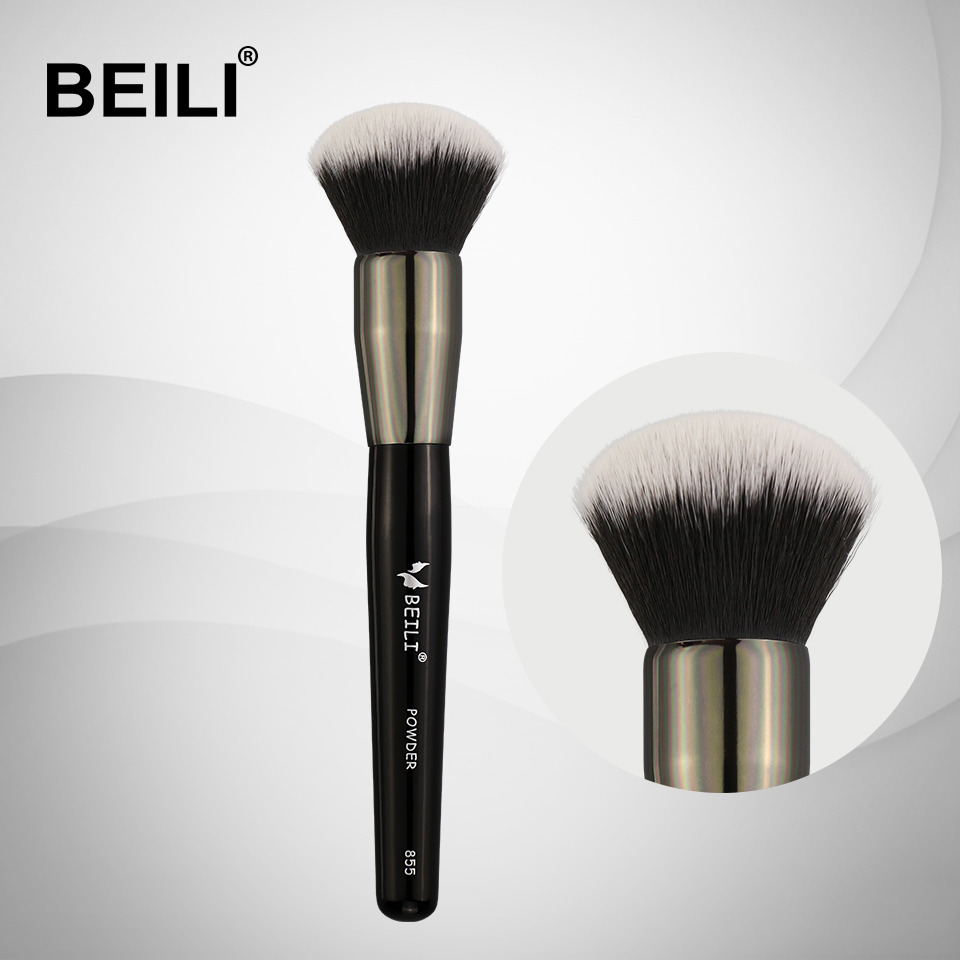 BEILI 1 pc Synthetic hair Small cream Powder Foundation brush Single Makeup Brushes 855