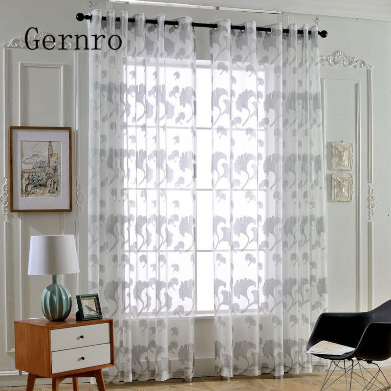 Online Shop Gernro Curtain 1 PC Silver Ginkgo Leaf Curtains For Living Room  Free Shipping Tulle Curtains Fabrics Curtains For Bedroom Yarn | Aliexpress  ...