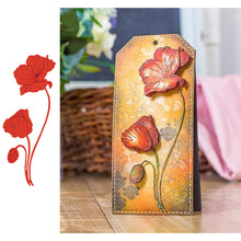 Wild Poppies Metal Cutting Dies for Scrapbooking and Cards Making Paper Craft New 2019