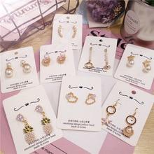 Korea Handmade Cute Heart Pineapple Shell Starfish Women Drop Earring Dangle Earrings Fashion Jewelry Accessories-JQD5