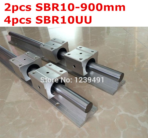 2pcs SBR10  -  900mm linear guide + 4pcs SBR10UU block 1pc sbr10 l300mm linear guide 2pcs sbr10 linear bearing block