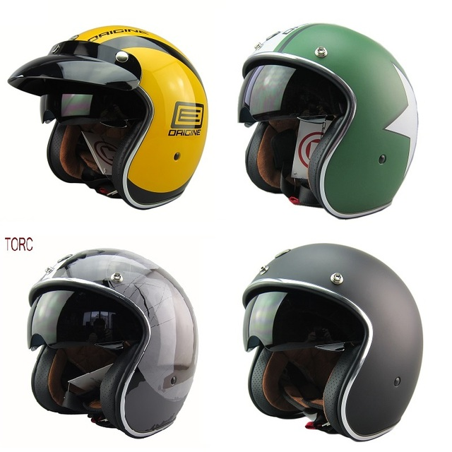 free shipping open face 3 4 motorcycle casco capacete jet vintage retro helmet scooter helmet. Black Bedroom Furniture Sets. Home Design Ideas