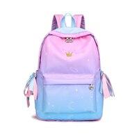 588a0096607 Starry Sky Backpacks For Girls School Children Schoolbags Primary School  Book Bag School Bags Women Backpack