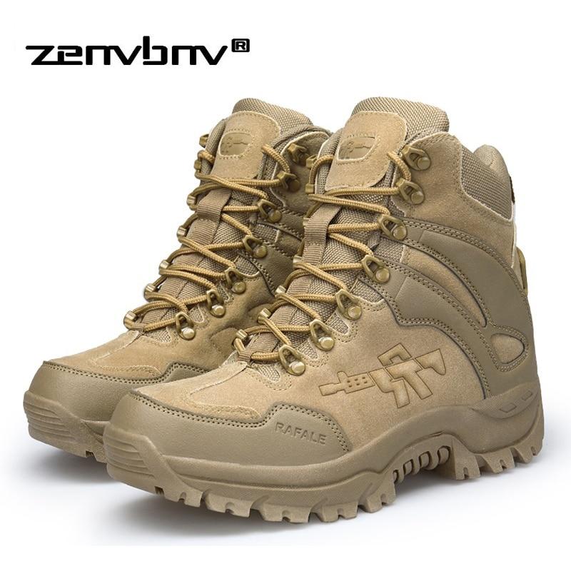 Winter/Autumn Army Men's Military Outdoor Desert Combat Tactic Mid-calf Boots Men Snow Tactical Hiking Boots Botas Hombre Zapats
