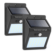T30 25/30Leds Solar Wall Light Rechargeable LED Solar Lighting Bulb IP65 Garden Lamp Decoration PIR Motion Sensor Night Security недорого