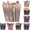 15Pcs Makup Brushes Set Tools Make-up Toiletry Kit Brand Make Up Brush Set Pincel Maleta De Maquiagem 7colors christmas gift