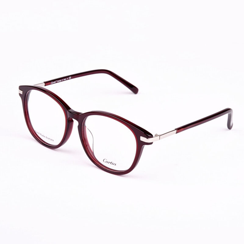new women brand 5101 eyeglasses eyewear acetate frames glasses oculos de grau armacao miopia with lense