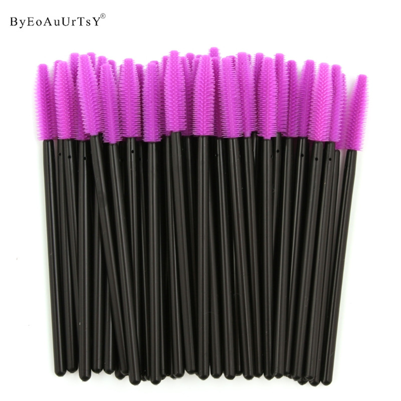 Pack of 1000 One Off Disposable Silicone Eyelash Mascara Brushes Wands Applicator Eyebrow Brush Makeup Tool