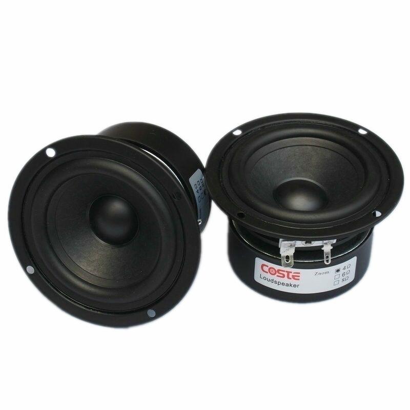 2pcs HIFI Speaker Full Range Bass Subwoofer Tweeter Adapted s