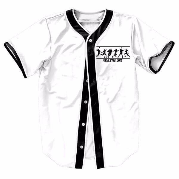 8f9099fa27 Vida negro blanco para hombre unisex botones homme camiseta de béisbol  camisa 3d streetwear tees camisetas