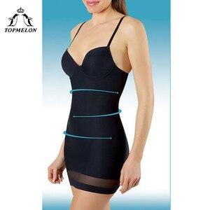 TOPMELON Women Slimming Underwear Control Slips Sexy Push Up Dress Body Shaper Shapewear Spaghetti Strap Waist Trainer Lingerie(China)