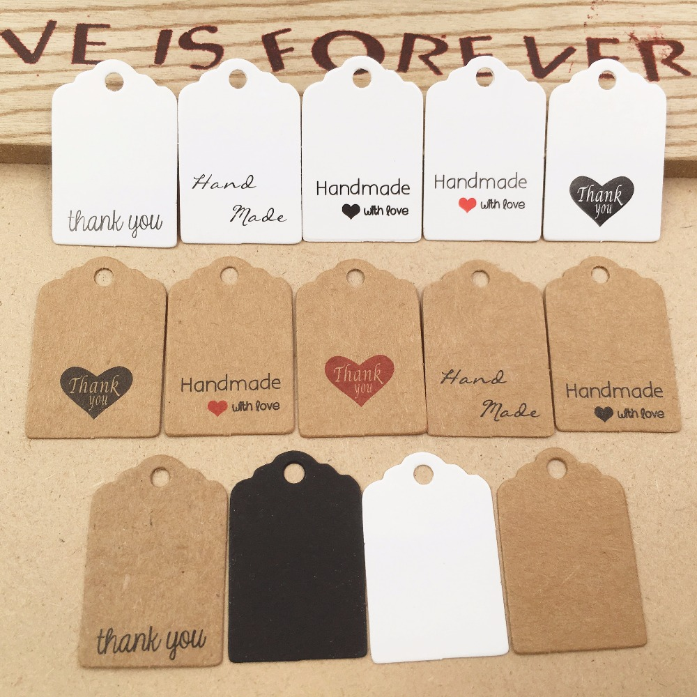Kraft print paper hand made tag with love for DIY Gift box tag candy cupcake thank you tags/handmade favors name brand tag форма для нарезки арбуза
