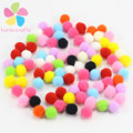 1000pcs/lot 8mm Crafts Round Shaped Pompom Mixed Color Soft Fluffy Pom Pom for kids 22010038(8HS1000)