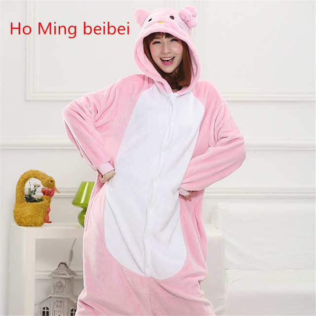 eeaf48c19 Hello kitty onesie Pijama Pajamas Cartoon Animal Cosplay Pyjamas Adult  Onesies Costumes Party Halloween Pijamas suit XL