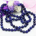8mm natural lapis lazuli stone jasper round beads long chain necklace for women high quality weddings party jewelry 36inch B3211
