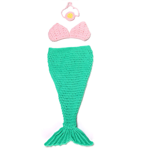 Newborn Photography Props Baby Mermaid Costume Girls Clothing A105