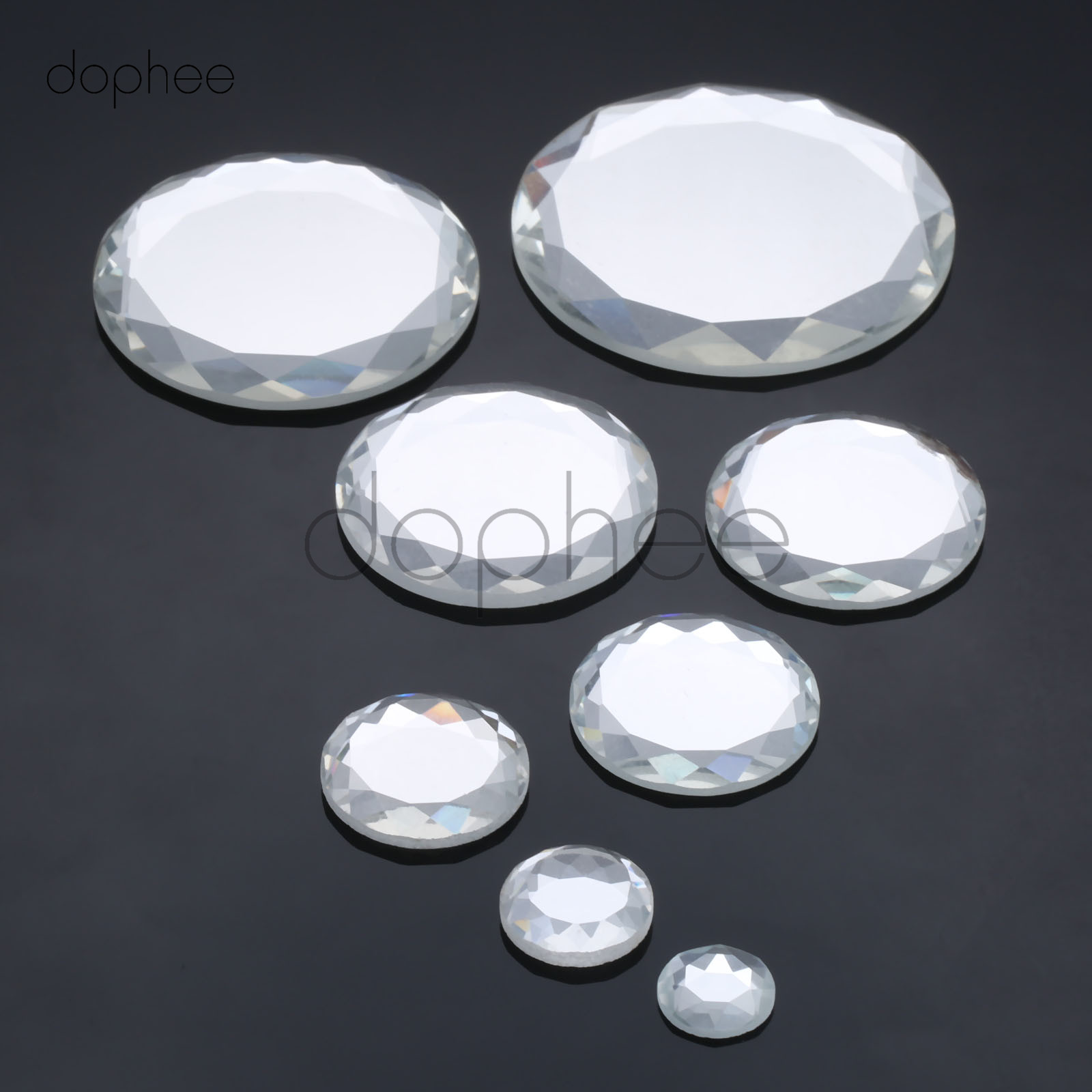 Arts,crafts & Sewing Home & Garden Dophee 1 Set Crystal Glass Flatbacks 14/18/25/30/35/40/45/58mm Round Clear Color For Jewelry Making And Diy Glue Decoration Ideal Gift For All Occasions