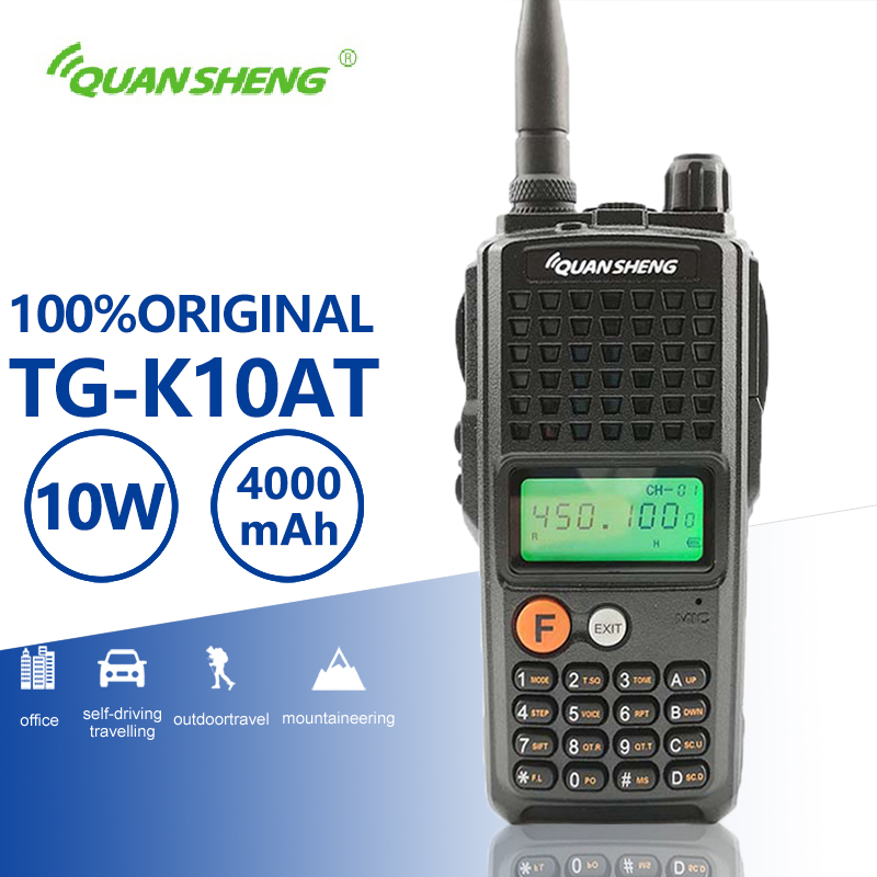Quansheng TG-K10AT 10W 4000mAh High Power Walkie Talkie 10KM Long Range Optional UHF VHF Two Way Radio Walky Talky ProfessionalQuansheng TG-K10AT 10W 4000mAh High Power Walkie Talkie 10KM Long Range Optional UHF VHF Two Way Radio Walky Talky Professional