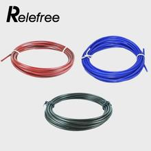 Relefree 3M Fitness Crossfit Replaceable Wire Speed Jump Ropes Skipping Rope Steel Wire(China)
