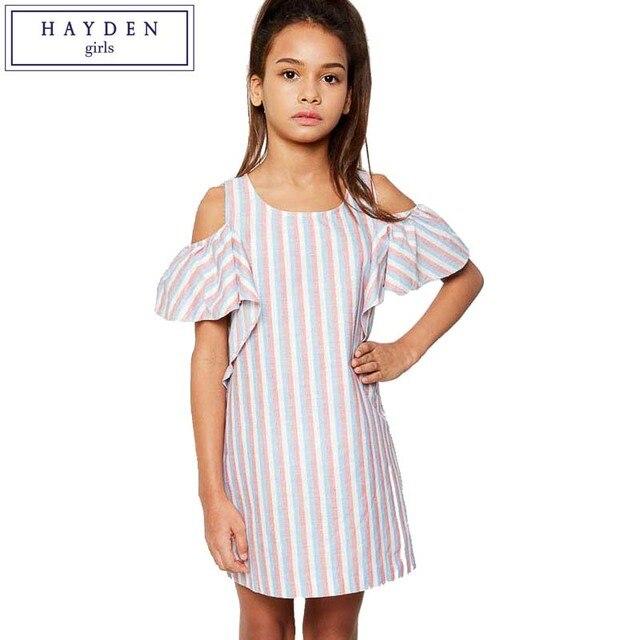 fe573554324e HAYDEN Girls Cold Shoulder Dress Girl 10 to 12 Years Children ...