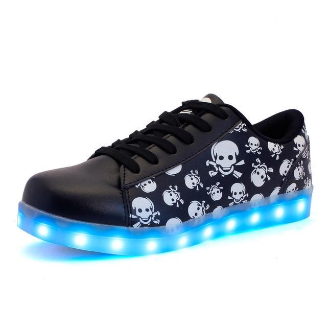 USB Enfants Charge Chaussures Couleur 35 Taille Lumière 7 De Led 44 1nqwExPf