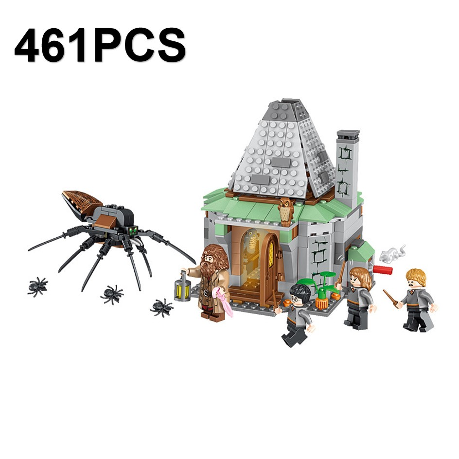 Harri Potter Figures Hagrid's Cottage Building Blocks Educational Toys For Children