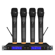 One for four wireless microphones u segment professional stage performance lavalier conference ktv dedicated microphone headset