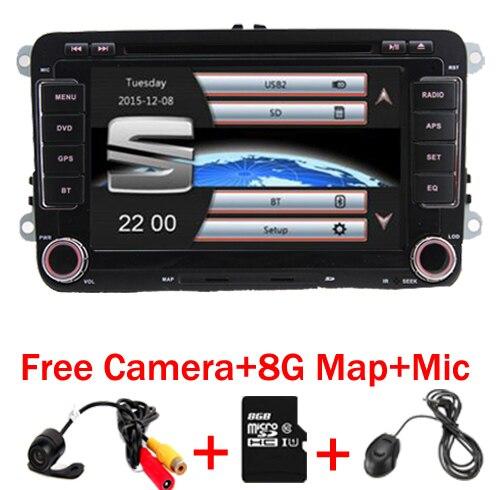 """imágenes para 7 """"Pantalla Táctil 2 Din Car DVD de navegación GPS Para Seat Leon Altea Toledo GPS Bluetooth Radio RDS control Del Volante Libera El Mapa"""