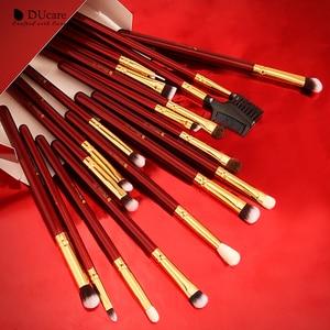 Image 5 - DUcare Makeup Brushes 27Pcs Classic red Professional Makeup Brush Set Premium Synthetic Goat Pony Hair Blending Brush MakeUp Kit