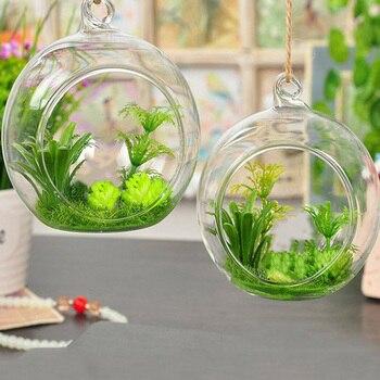 Terrarium Ball Globe Shape Clear Hanging Glass Vase Flower Plants Container Ornament Micro Landscape DIY Home Decoration 流水 盆 養魚