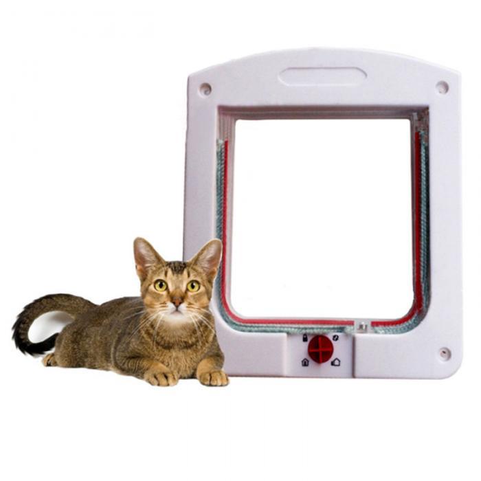 Кошка двери с замком котенок клапаном тоннель с 4 способ блокировки настенный вход алюминиевые профили для кошки могут CSV