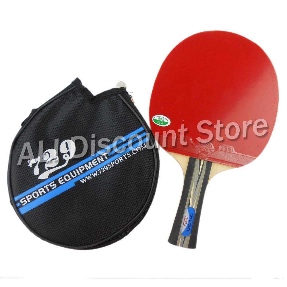 где купить RITC 729 Friendship 2040# Pips-In Table Tennis Racket with Case for PingPong Shakehand long handle FL по лучшей цене