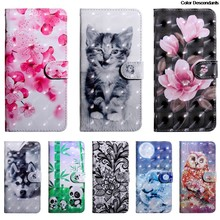 3D flower Flip Case for Sony Xperia XA2 Case H3113 H4113 H4133 Leather Phone Cover for Sony Xperia XA 2 X A2 X A 2 on Bag Funda(China)