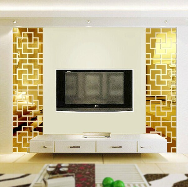 MEYA New design 3D Acrylic Wall Mirror Sticker For TV ...