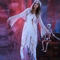 Corpse Bride fantasma de Halloween para Adultos Mujeres 2016 Venta Club Party Juego de Rol de Cosplay Bruja Onibaba Cos Traje Del Vampiro