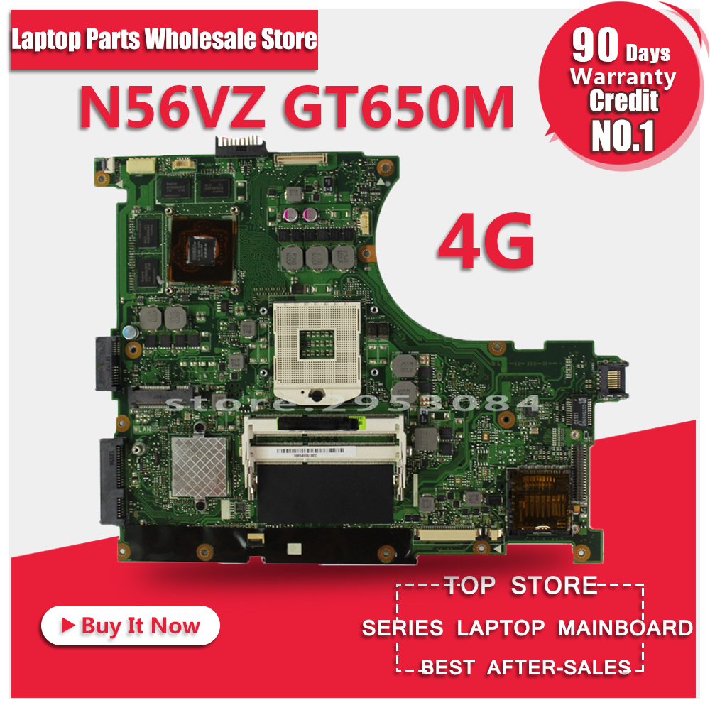 for Asus N56VZ N56V laptop motherboard N56VM REV2.3 Mainboard GT650M 4GB DDR3 N13P-GLR-A1 PGA989 tested well brand new pbl80 la 7441p rev 2 0 mainboard for asus k93sv x93sv x93s laptop motherboard with nvidia gt540m n12p gs a1 video card
