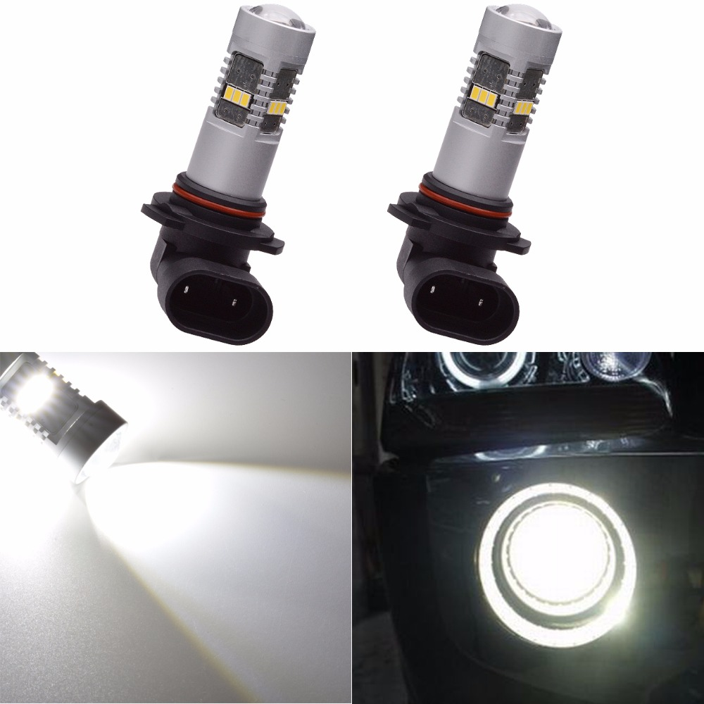 Katur 2pcs HB3 9005 Led Bulb Fog Lights Daytime Running Lamp Super Bright 1800 Lumen Xenon White/Yellow Automobiles Car Styling e support 2 pcs h7 80w cree super bright xenon white led car auto fog lights rear lights headlights lamp bulb xy01
