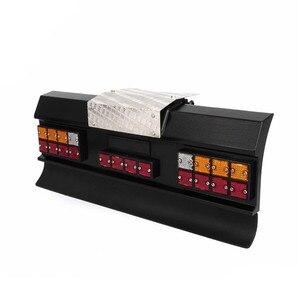 Image 3 - Светодиодный фонарь заднего сигнала, модифицированный для автомобиля, квадратный, с задним бампером для тамии, все 1/14, для Man, Скания R620, R470, RC, автозапчасти