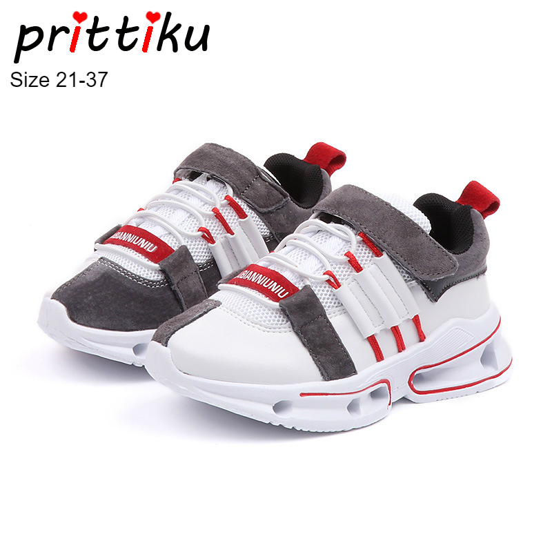 Autumn 2018 Boys Girls Cushioning Sneakers Children Fashion White Black Trainers Sports School Shoes Baby/Toddler/Little/Big Kid